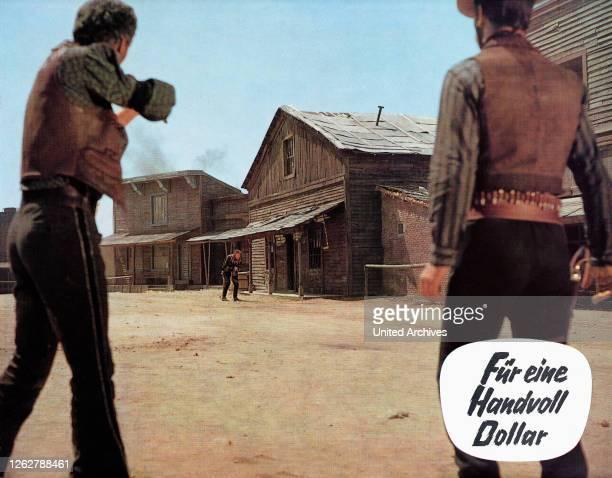 Kino. Per un pugno di dollari, Italien/Spanien/Deutschland aka: Für eine Handvoll Dollar, Regie: Sergio Leone, Darsteller: Clint Eastwood.