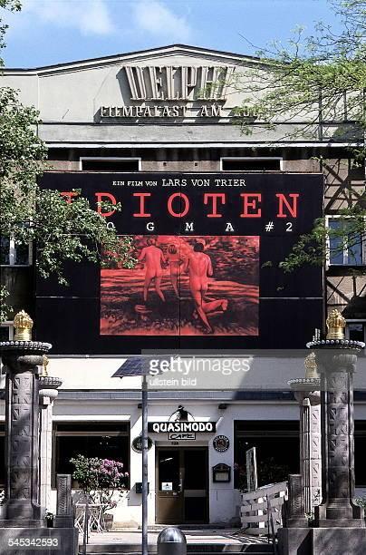 Kino und Kneipe Quasimodo Plakatfür den Film Idioten von Lars von Trier Mai 1999