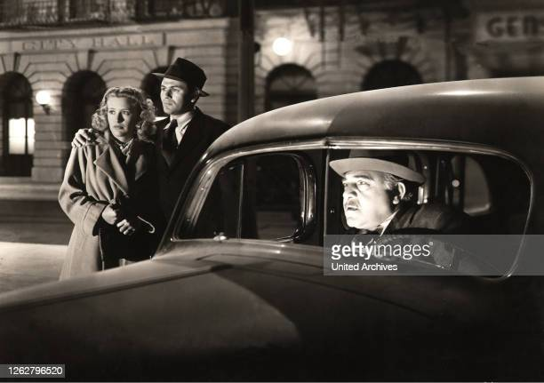 Kino. Weg aus dem Nichts, USA Regie: Lewis Seiler, PRISCILLA LANE, JOHN GARFIELD, FRANK McHUGH, Stichwort: Nacht, Autofahrer, Pärchen.