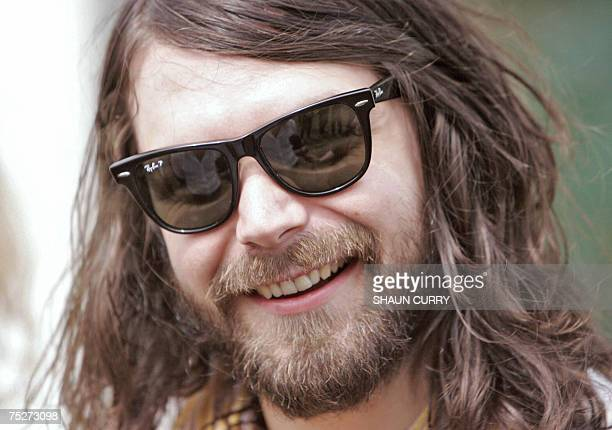 Kinross, UNITED KINGDOM: Simon Neil, Scottish lead singer of Biffy Clyro, appears backstage at the T in the Park festival in Kinross, 07 July 2007 in...