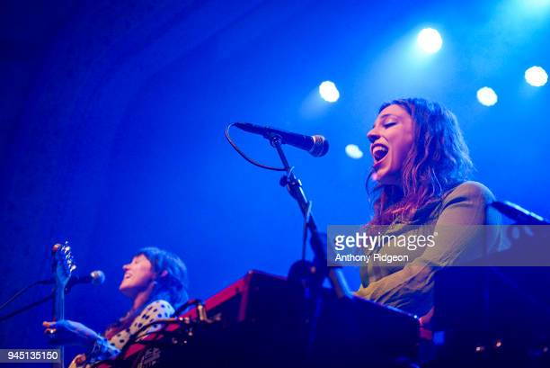 Kinsey Lee of The Wild Reeds performs on stage at the Aladdin Theater in Portland Oregon United States on 8th March 2018