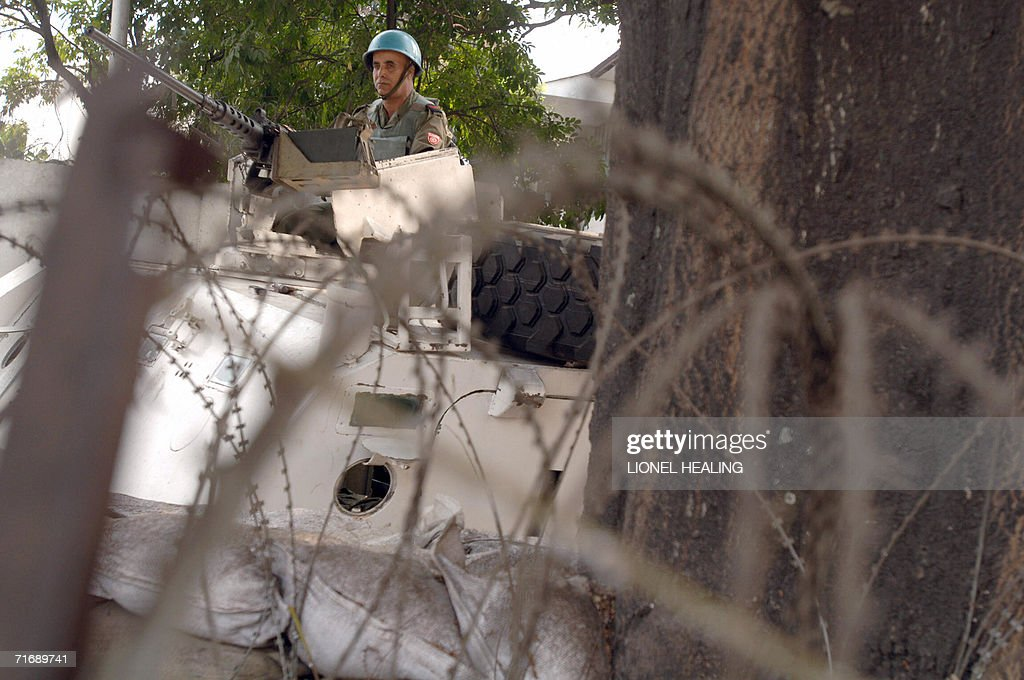 A UN soldier of the Tunisian contingent : ニュース写真