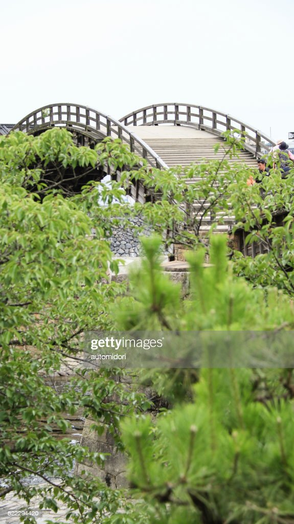 Kintai Bridge in Iwakuni during Summer 2017 : Stock Photo