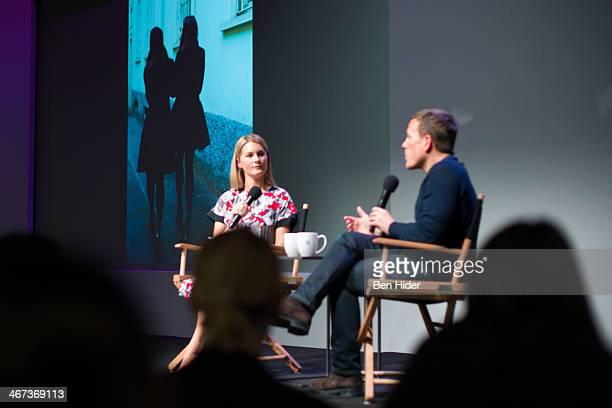 Kinvara Balfour and Scott Schuman speak at Apple Store Soho on February 6 2014 in New York City