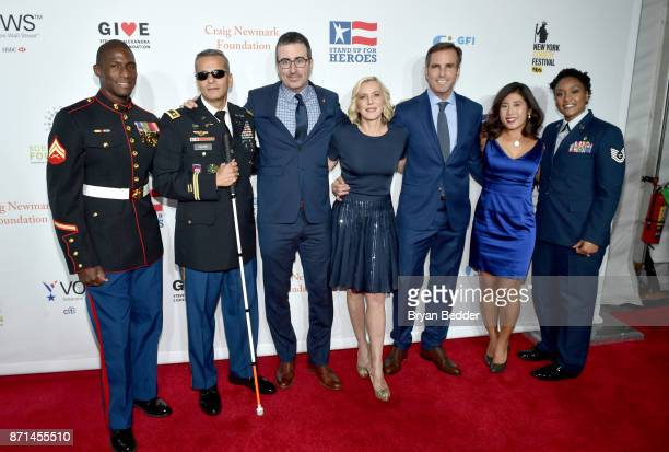 Kionte Storey Ivan Castro John Oliver Lee Woodruff Bob Woodruff Jen Oh and Deondra Parks attend the 11th Annual Stand Up for Heroes Event presented...