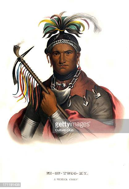 Kiontwogky a Seneca chief c 1750 – 18 February 1836 Native American chief of the Seneca tribe of the Iroquois negotiator between United States...