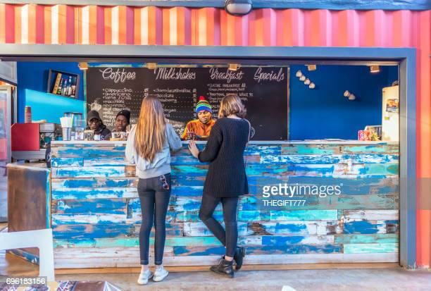 kiosk at 24 boxes in melville, johannesburg - johannesburg stock pictures, royalty-free photos & images