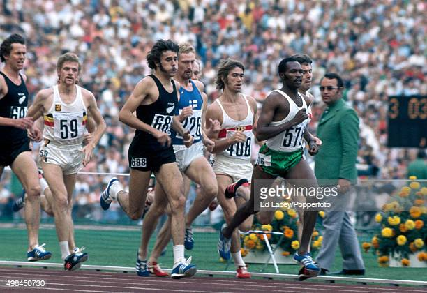 Kip Keino of Kenya leading Brendan Foster of Great Britain Rod Dixon of New Zealand Pekka Vasala of Finland PaulHeinz Wellmann of Germany Herman...