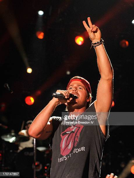 Kip Moore performs at LP Field during the 2013 CMA Music Festival on June 7 2013 in Nashville Tennessee