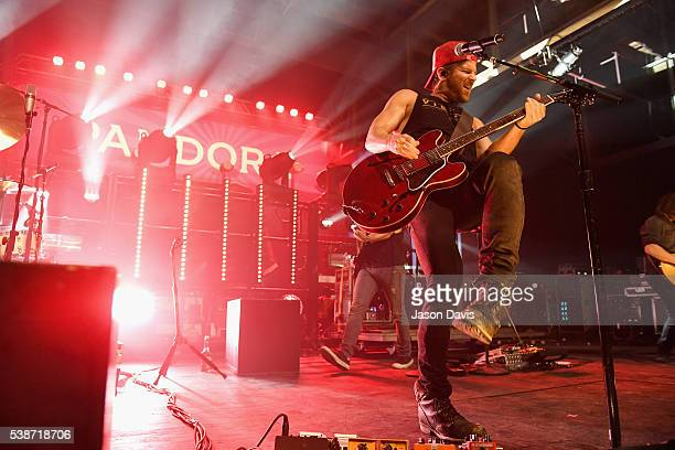 Kip Moore performs onstage during Pandora Country at Marathon Music Works on June 7 2016 in Nashville Tennessee