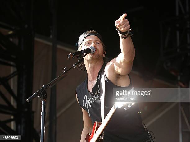 Kip Moore performs onstage during the 2nd Annual ACM Party for a Cause Festival Day 2 held on April 5 2014 in Las Vegas Nevada