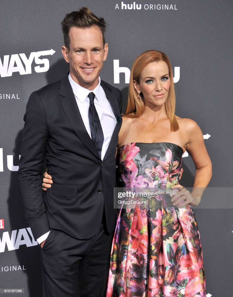 Kip Pardue and Annie Wersching arrive at the premiere of Hulu's 'Marvel's Runaways' at Regency Bruin Theatre on November 16, 2017 in Los Angeles, California.