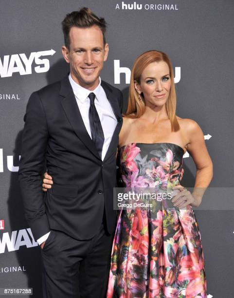 Kip Pardue and Annie Wersching arrive at the premiere of Hulu's Marvel's Runaways at Regency Bruin Theatre on November 16 2017 in Los Angeles...