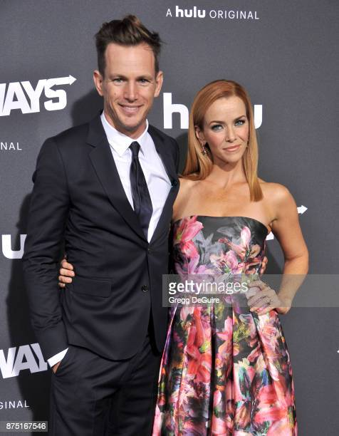 Kip Pardue and Annie Wersching arrive at the premiere of Hulu's 'Marvel's Runaways' at Regency Bruin Theatre on November 16 2017 in Los Angeles...
