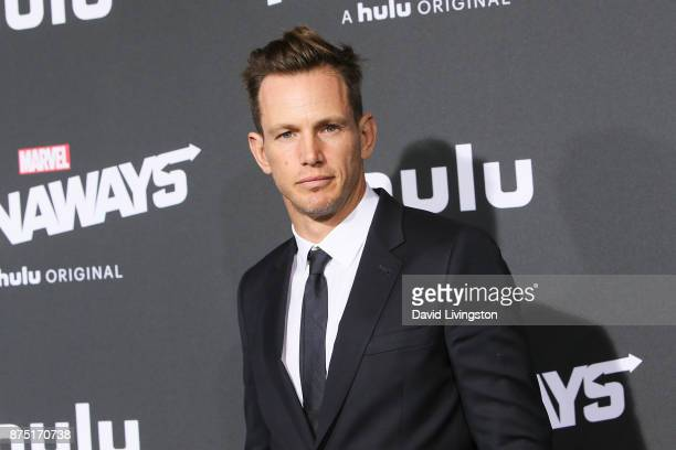 Kip Pardue arrives at the premiere of Hulu's 'Marvel's Runaways' at the Regency Bruin Theatre on November 16 2017 in Los Angeles California