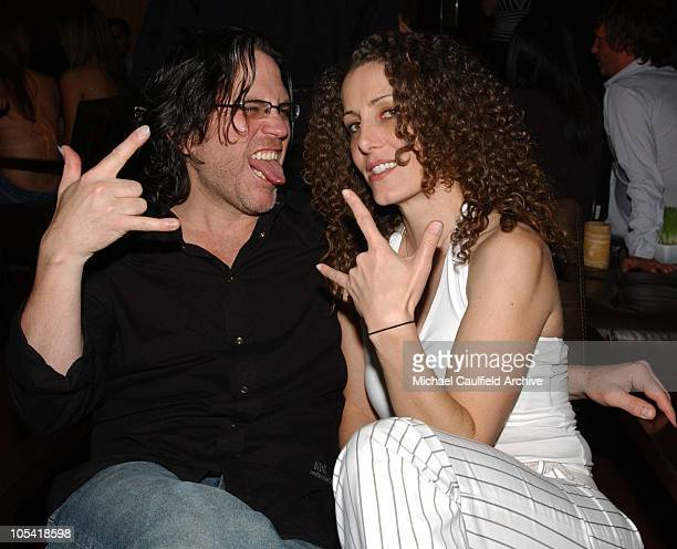 Kip Winger and Denise Truscello during WireImage Vegas Launch Party at Caramel Bar and Lounge at Bellagio at Caramel in Las Vegas Nevada United States
