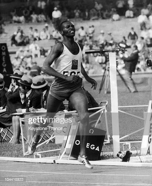Kipchoge KEINO of Kenya is seen winning the 1500 meters final to gain his gold medal in the Olympic record time of 3 min.34,9 sec on October 23rd, 1968 in Mexico.