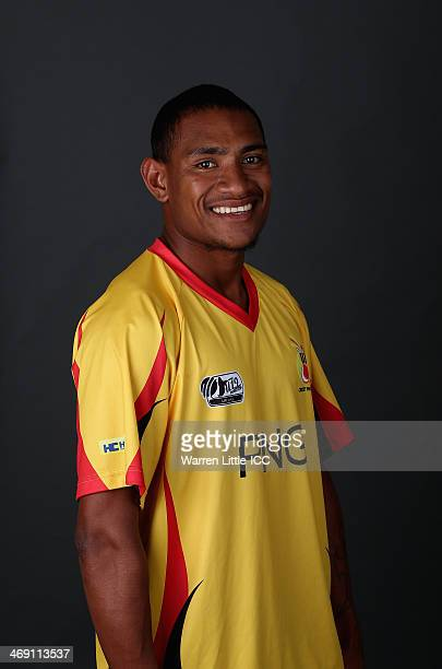 Kiplin Doriga of Papua New Guinea poses for a portrait ahead of the ICC U19 Cricket World Cup at the ICC offices on February 11 2014 in Dubai United...