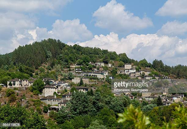 Kipoi or Bagia village on August 10 2016 in Zagorohoria Greece Kipi or Bagia village located in the region of ZagoriThe village has the lowest...