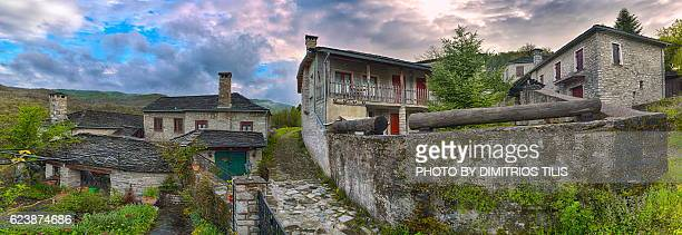kipoi upper mahalas panorama - epirus greece stock pictures, royalty-free photos & images