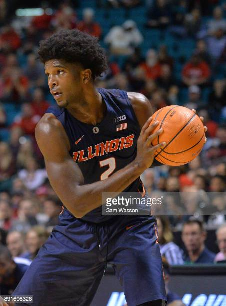 Kipper Nichols of the Illinois Fighting Illini looks to drive against the UNLV Rebels during their game at the MGM Grand Garden Arena on December 9...
