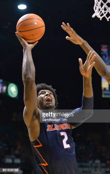 Kipper Nichols of the Illinois Fighting Illini shoots against the UNLV Rebels during their game at the MGM Grand Garden Arena on December 9 2017 in...