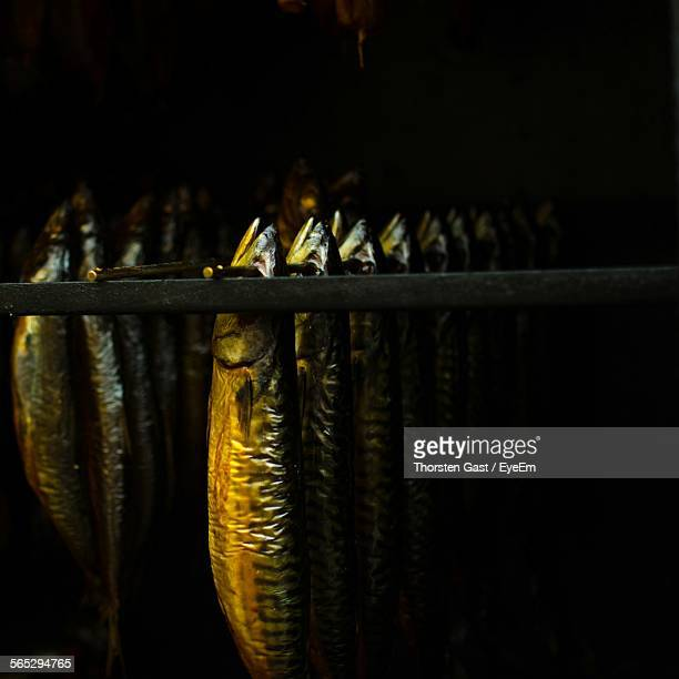 Kippers Hanging In Smoker Oven
