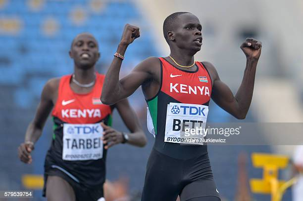 Kipyegon Bett from Kenya competes in men's 800 metres during the IAAF World U20 Championships at the Zawisza Stadium on July 24, 2016 in Bydgoszcz,...