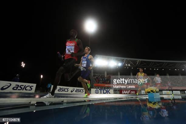 Kipyegon Bett of Kenya competes in the Men's 4x800 Metres Relay Final during the IAAF/BTC World Relays Bahamas 2017 at Thomas Robinson Stadium on...