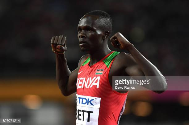 Kipyegon Bett of Kenya conmpetes in the Men's 800 Metres semi finals during day three of the 16th IAAF World Athletics Championships London 2017 at...
