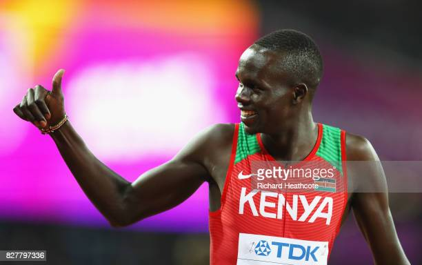 Kipyegon Bett of Kenya prior to start of the Men's 800 metres final during day five of the 16th IAAF World Athletics Championships London 2017 at The...