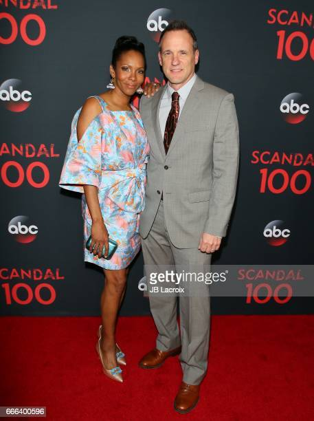 Kira Arne and actor Tom Verica attend ABC's 'Scandal' 100th Episode Celebration on April 8 2017 in West Hollywood California