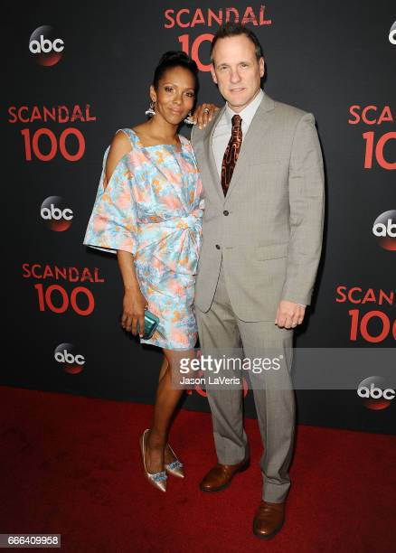 Kira Arne and Tom Verica attend ABC's Scandal 100th episode celebration at Fig Olive on April 8 2017 in West Hollywood California