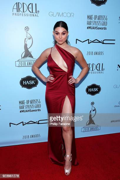 Kira Kosarin attends the 2018 MakeUp Artists and Hair Stylists Guild Awards at The Novo by Microsoft on February 24 2018 in Los Angeles California