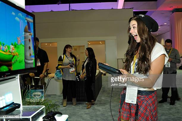 Kira Kosarin attends the Nintendo hosts celebrities at 2015 E3 Gaming Convention at Los Angeles Convention Center on June 16 2015 in Los Angeles...
