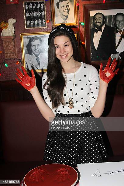 Kira Kosarin promotes Nickelodeon's The Thundermans as she visits Buca di Beppo Times Square on March 5 2015 in New York City