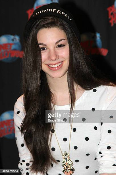 Kira Kosarin promotes Nickelodeon's 'The Thundermans' as she visits Planet Hollywood Times Square on March 5 2015 in New York City