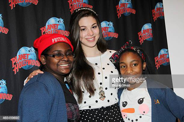 Kira Kosarin promotes Nickelodeon's The Thundermans as she visits Planet Hollywood Times Square on March 5 2015 in New York City