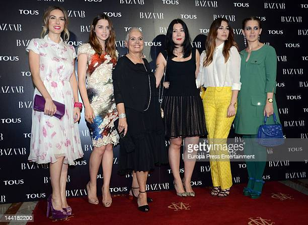 Kira Miro, Ana de Armas, Rosa Oriol, guest, Blanca Suarez and Rosa Torus attend Tous collection presentation at Casino Madrid on May 10, 2012 in...