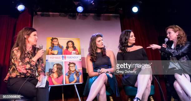 Kira Reed Lorch Taylor C Baker Chelsea Alana Rivera and Frankie Ingrassia attend a panel discussion of the 'Female Friendly' Screening at The Three...