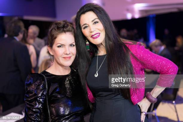 Kira Reed Lorsch and Barbara Lazaroff attend the Rio Vista Universal's Valkyrie Awards and Holiday Party on December 16 2017 in Los Angeles California
