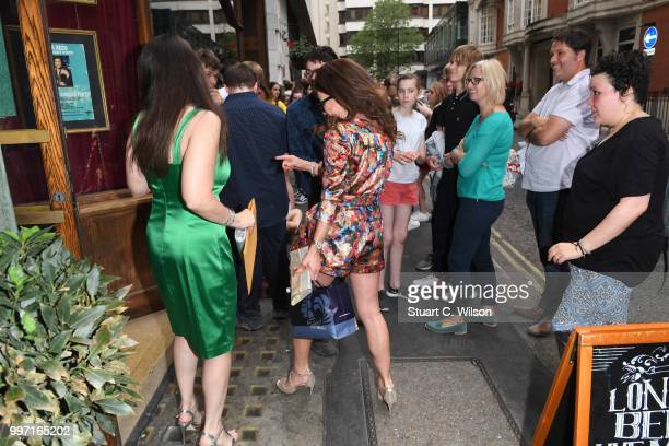 Kira Reed Lorsch and Nancy O'Brien arrive to sign copies of 'SCORE' at Hard Rock Cafe London on July 12 2018 in London England
