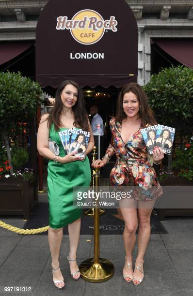 Kira Reed Lorsch and Nancy O'Brien sign copies of 'SCORE' at Hard Rock Cafe London on July 12 2018 in London England