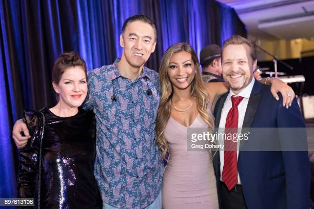 Kira Reed Lorsch Kevin Carriker Rachel Ako and James Ganiere attend the Rio Vista Universal's Valkyrie Awards and Holiday Party on December 16 2017...