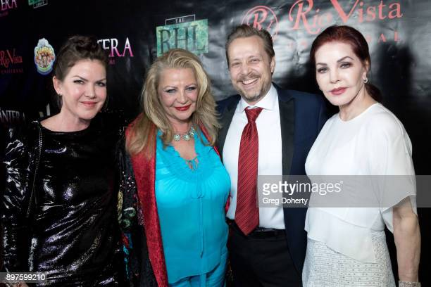 Kira Reed Lorsch Lynn Santer Priscilla Presley and James Ganiere attend the Rio Vista Universal's Valkyrie Awards and Holiday Party on December 16...