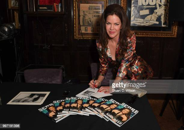 Kira Reed Lorsch signs copies of 'SCORE' at Hard Rock Cafe London on July 12 2018 in London England