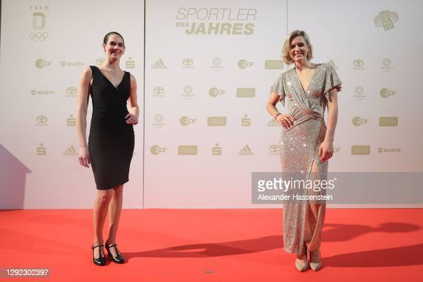 "Kira Walkenhorst arrives with Laura Ludwig for the ""Sportler des Jahres"" Gala at Kurhaus Baden-Baden on December 20, 2020 in Baden-Baden, Germany."