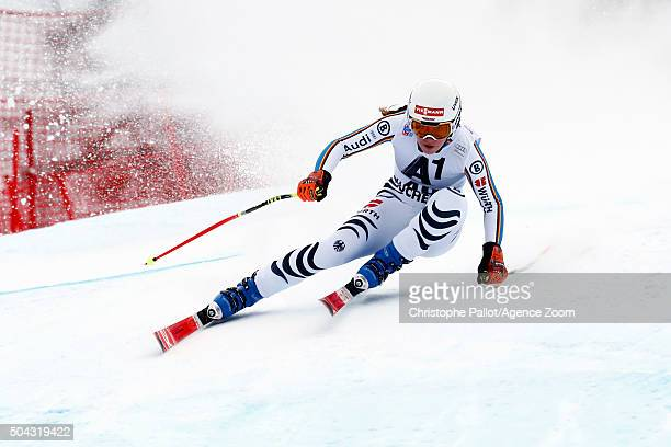 Kira Weidle of Germany competes during the Audi FIS Alpine Ski World Cup Women's SuperG on January 10 2016 in AltenmarktZauchensee Austria