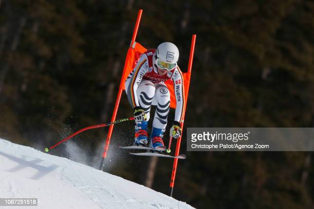 Kira Weidle of Germany in action during the Audi FIS Alpine Ski World Cup Women's Downhill on December 1 2018 in Lake Louise Canada