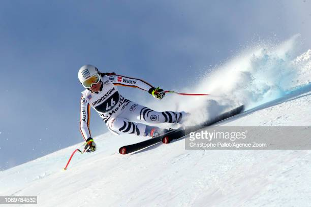 Kira Weidle of Germany in action during the Audi FIS Alpine Ski World Cup Women's Super G on December 8 2018 in St Moritz Switzerland